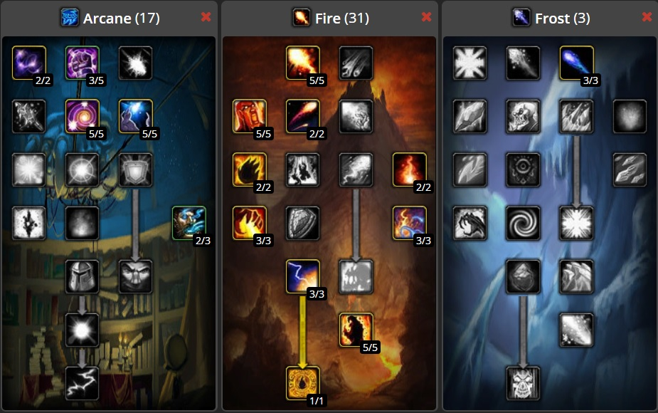 Talent allocation for Fire Build